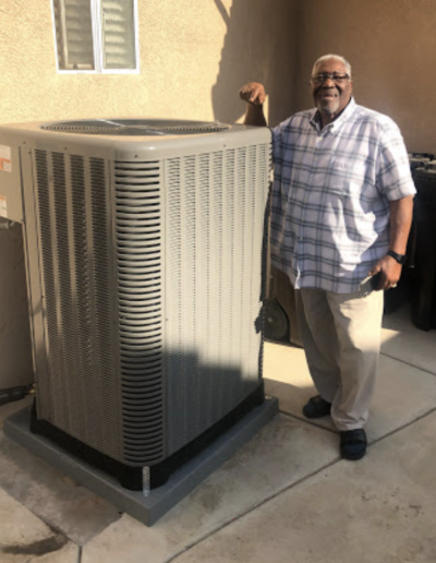 Redlands Resident and his new HVAC