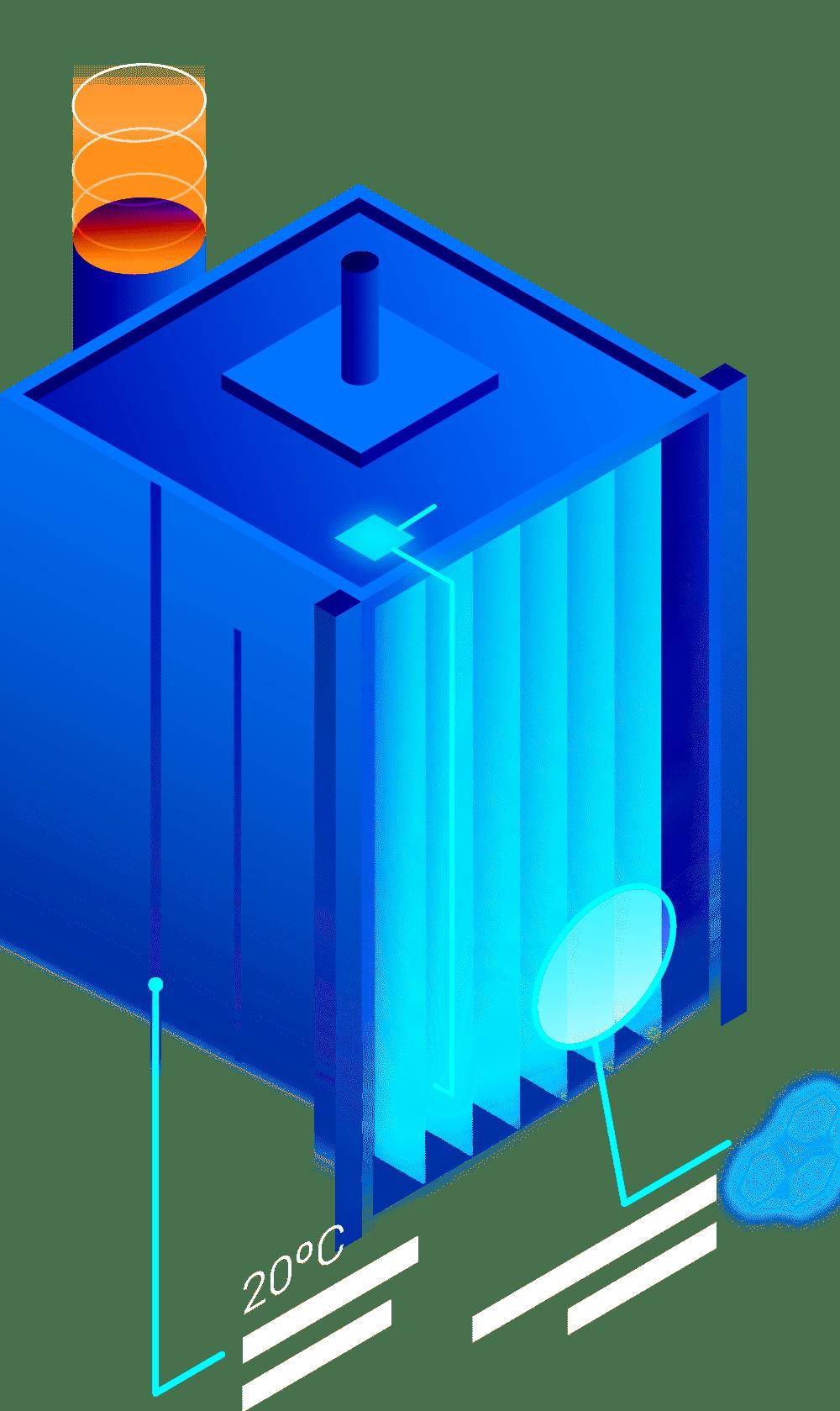 HVAC Unit Animated Graphic